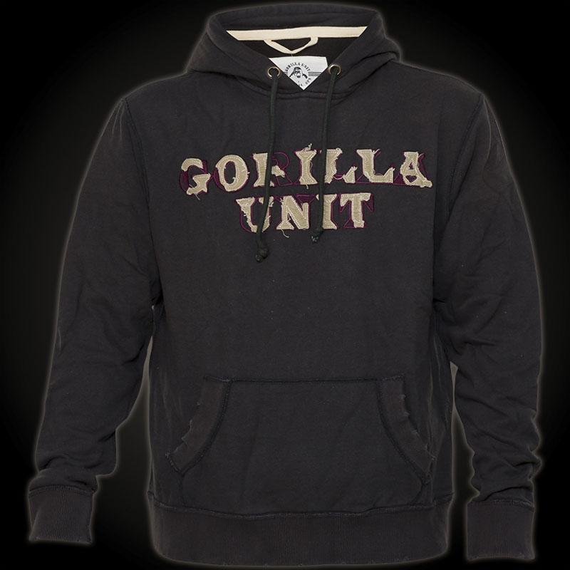 gorilla unit black wings hoody schwarzes sweatshirt mit. Black Bedroom Furniture Sets. Home Design Ideas