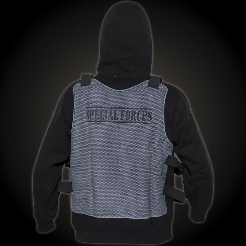 gorilla unit vest special forces hoody schwarzes. Black Bedroom Furniture Sets. Home Design Ideas
