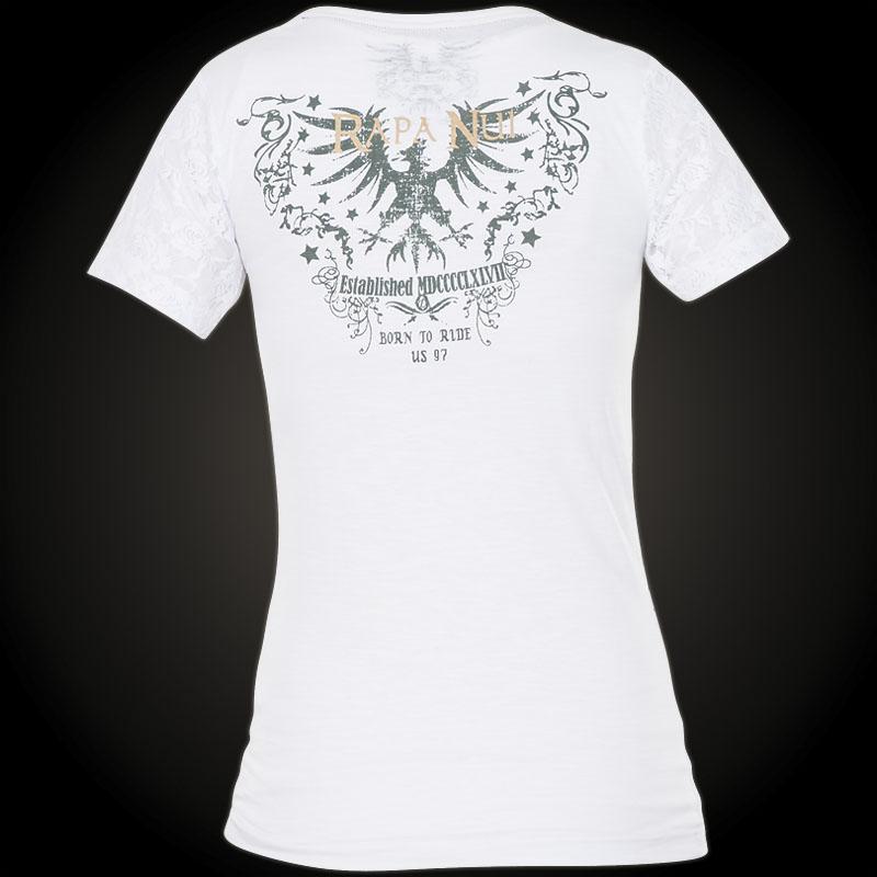 rapa nui t shirt stars in wei mit einem greifvogel und. Black Bedroom Furniture Sets. Home Design Ideas