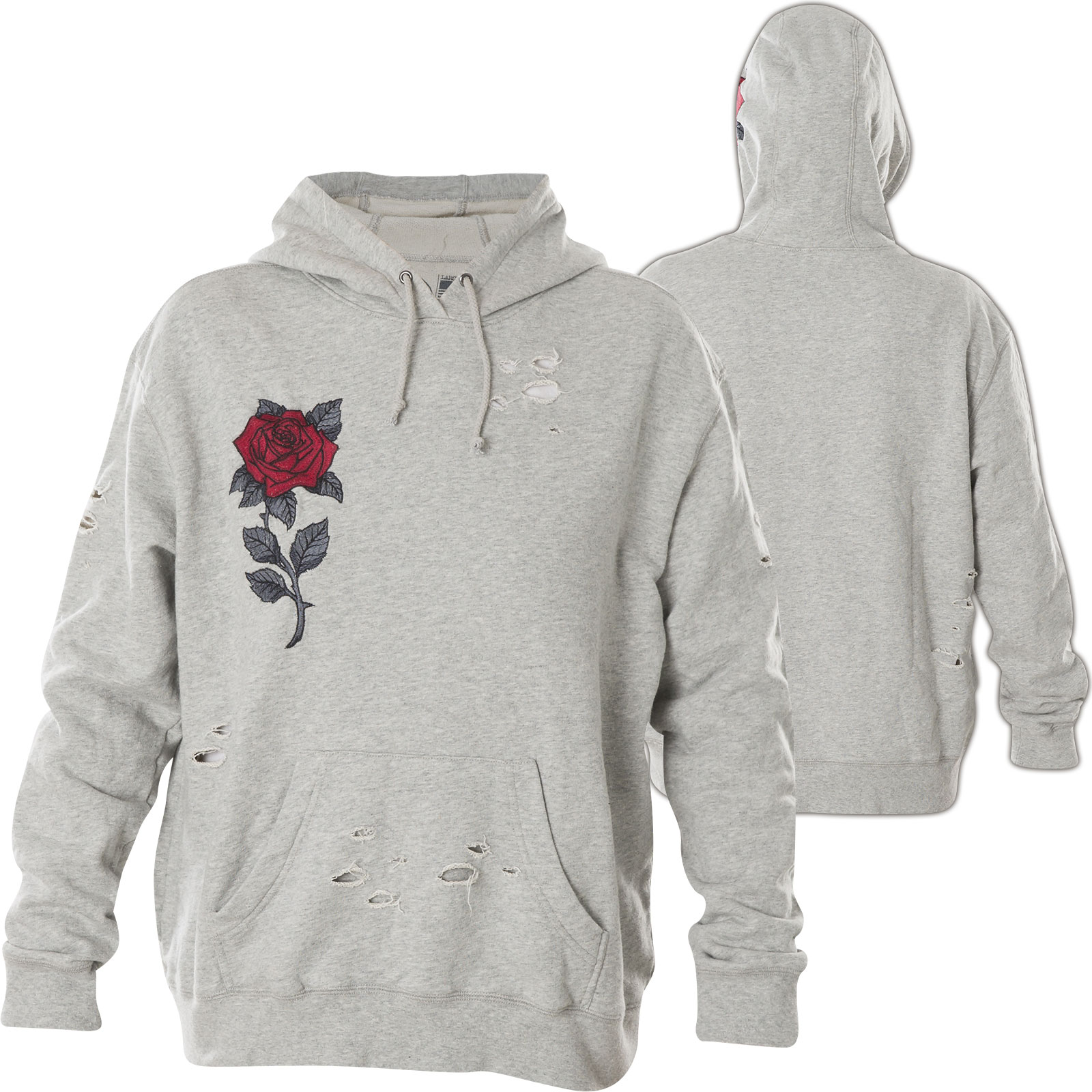 new arrival 8e85a 1dd4a Affliction Damen Hoody Red Roses Grau