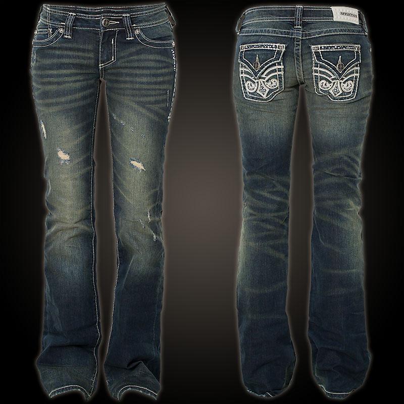 affliction jeans jade fleur flap stud valliant jeans mit. Black Bedroom Furniture Sets. Home Design Ideas