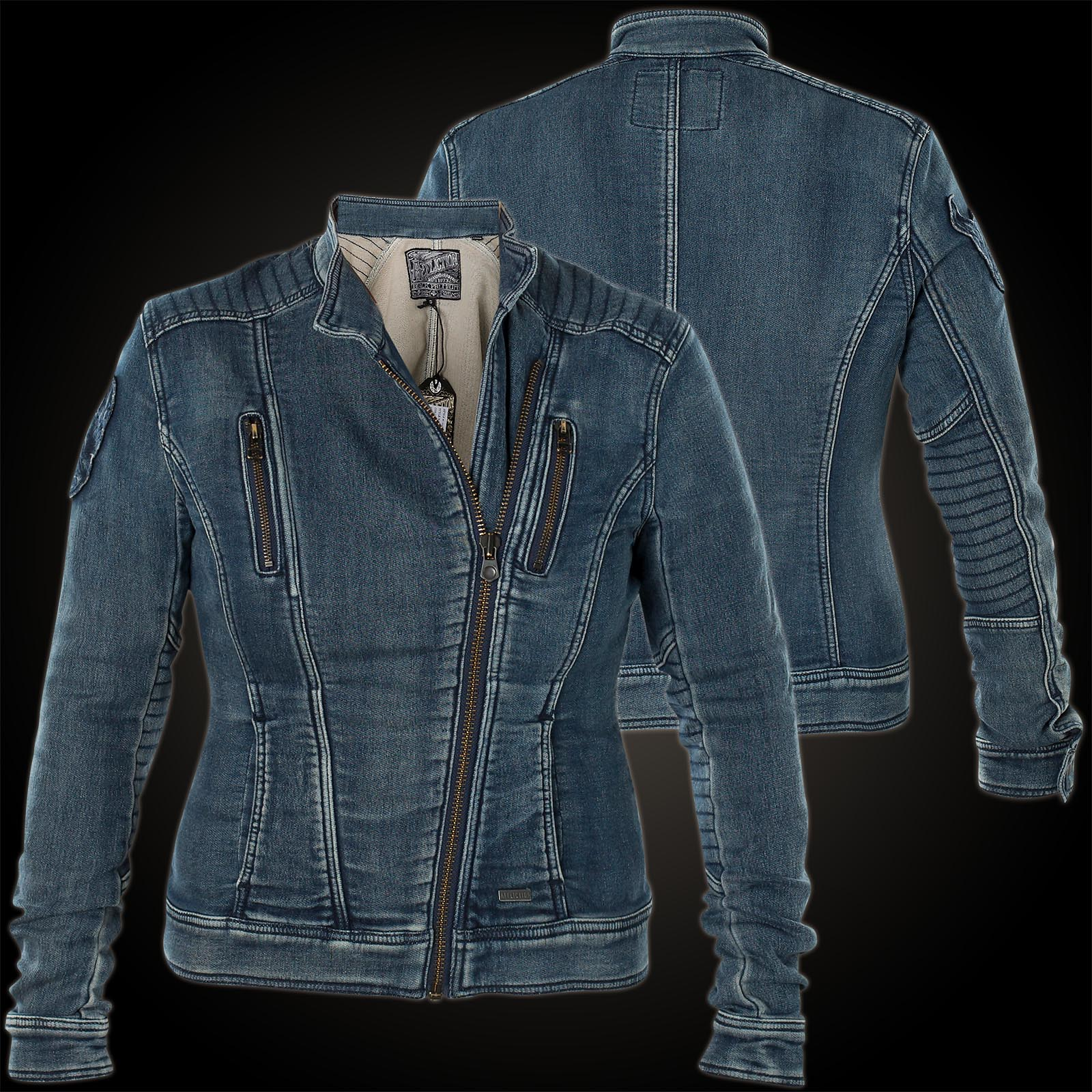 promo code 14a64 b740c Affliction Damen Jeansjacke Coastal Retreat Blau