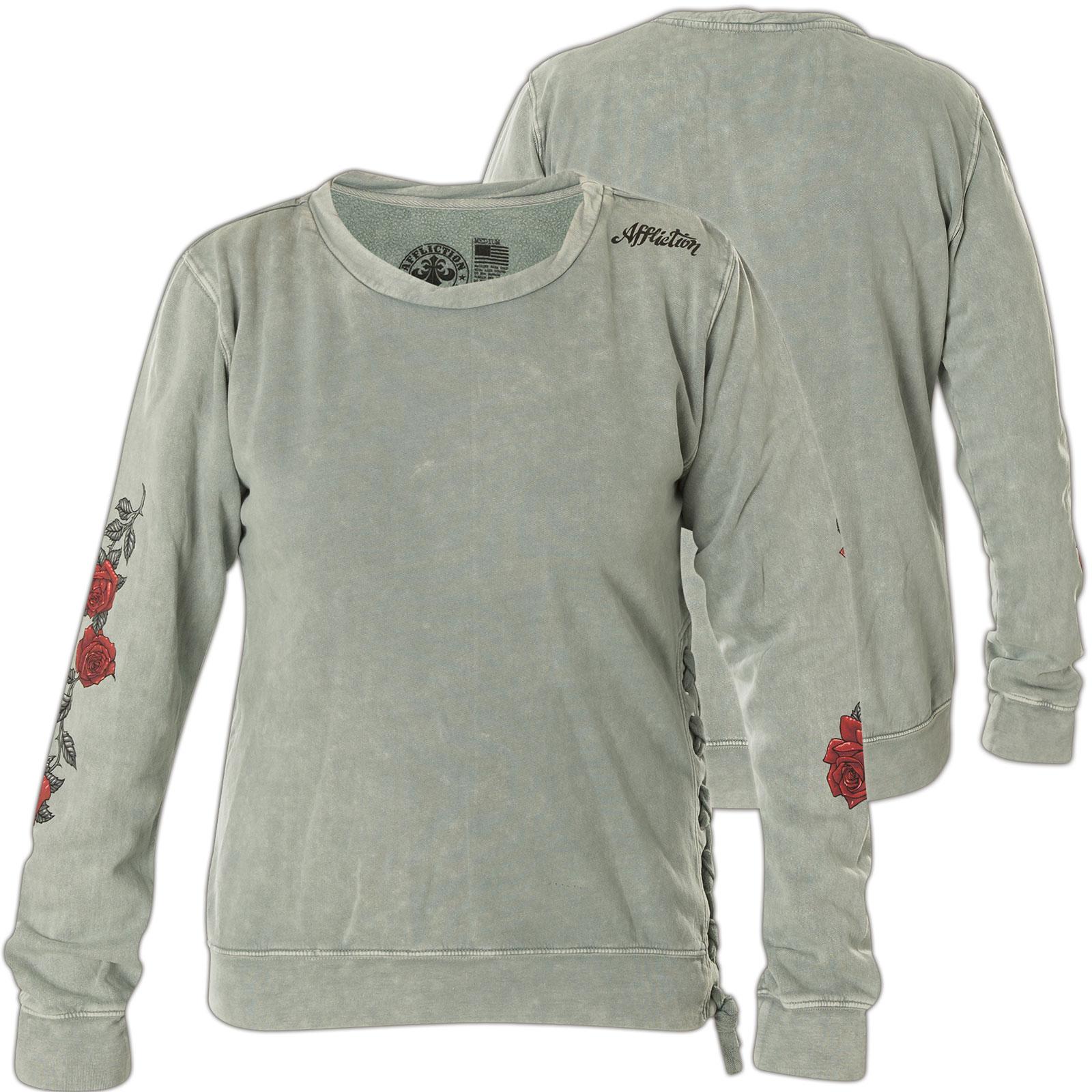 Gutscheincode Vereinigte Staaten Neupreis Affliction Damen Pullover Burning Rose Grau