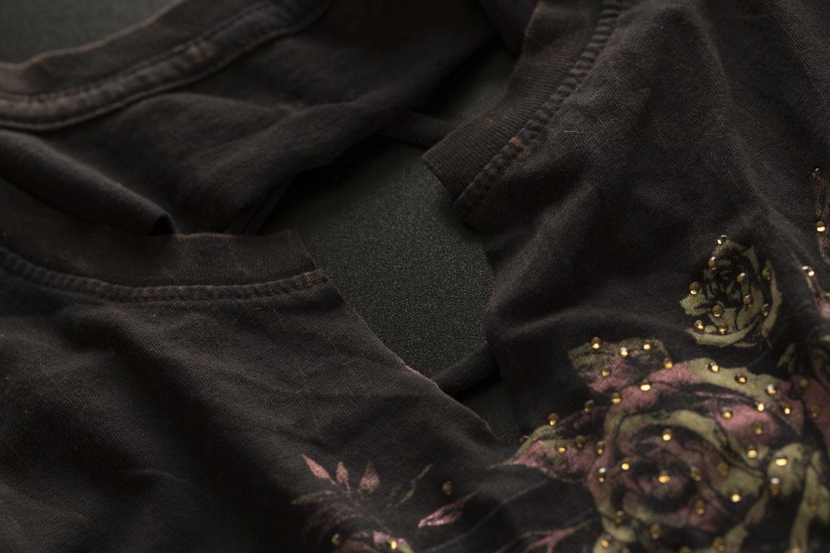 AFFLICTION Damen T-Shirt AC Pasadena Schwarz