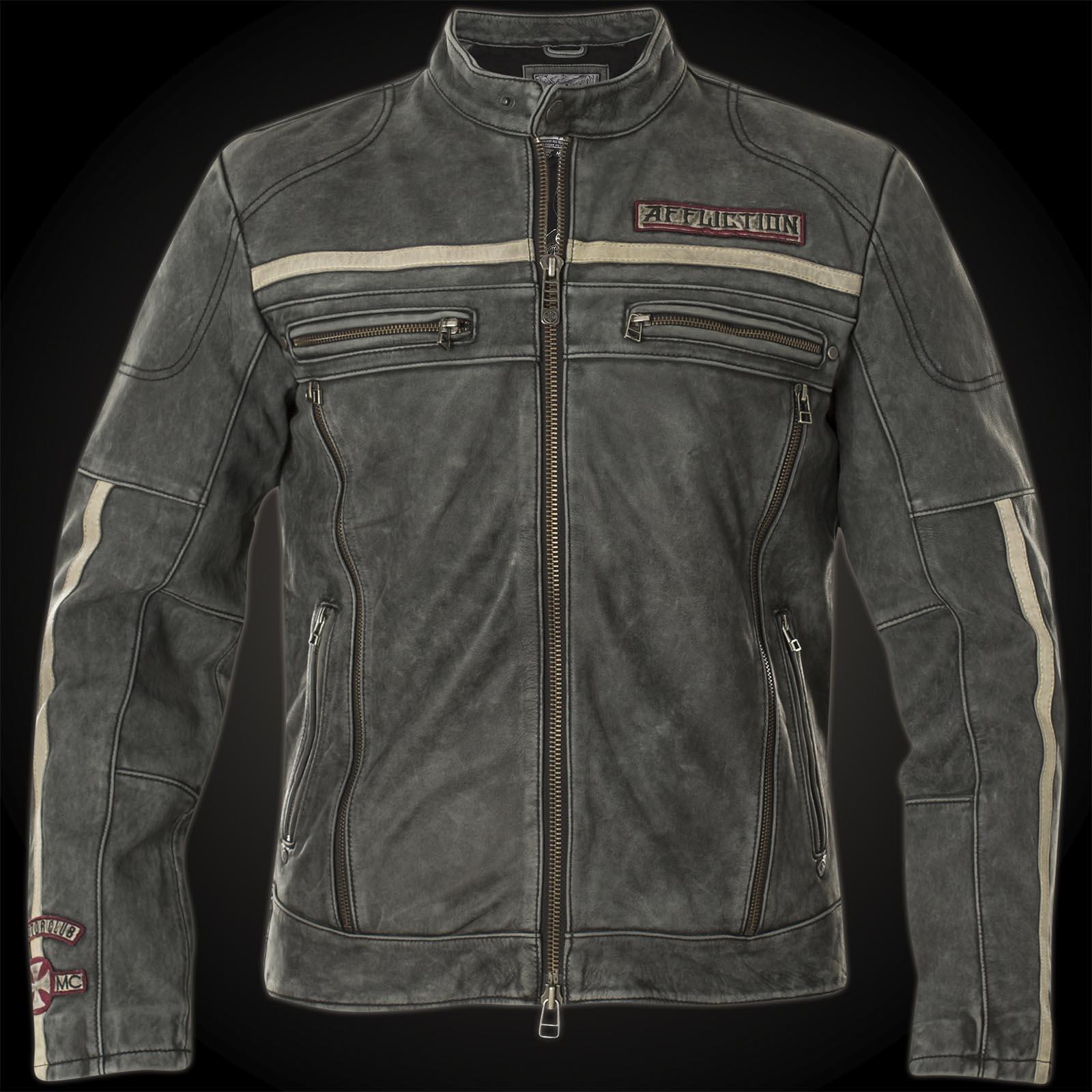 Affliction Black Moon Riders Jacke im Biker Stil aus ...