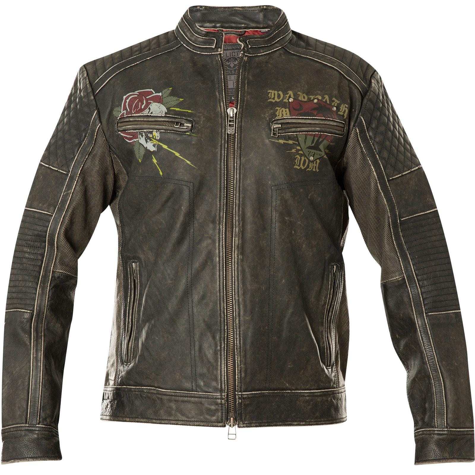 Affliction Fast Motors Jacke im Biker Stil aus echtem Leder