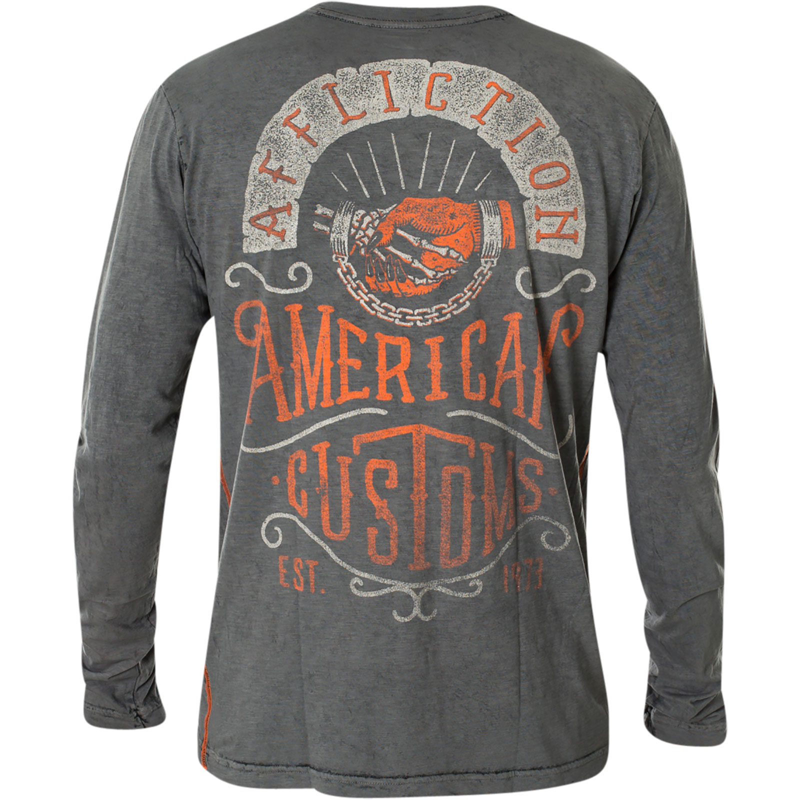 AFFLICTION Pullover Manitoba Grau Sweatshirts