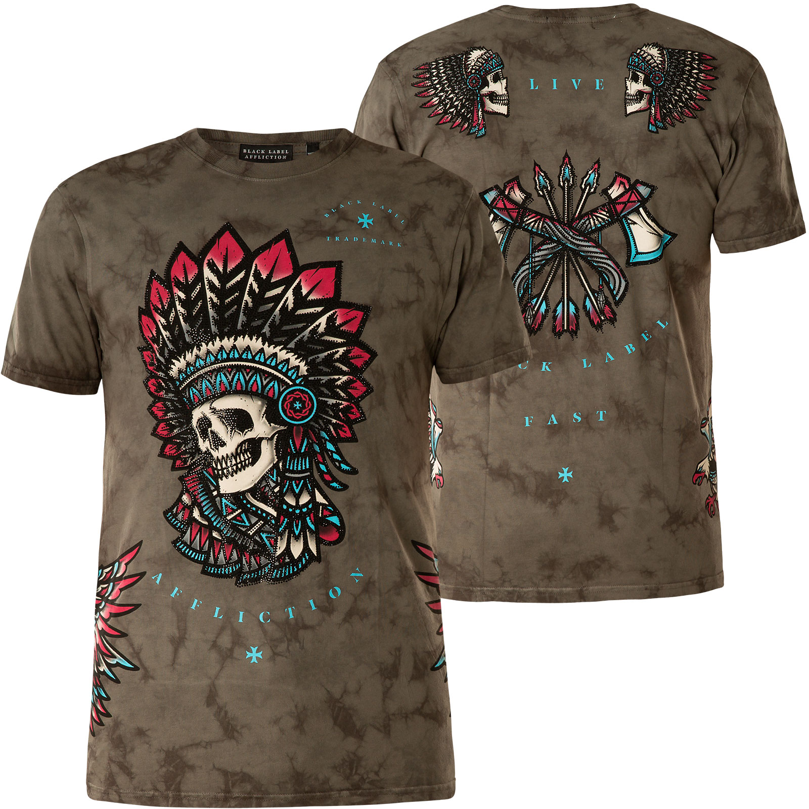XTREME COUTURE BY AFFLICTION T-Shirt Stand Up Grau T-Shirts
