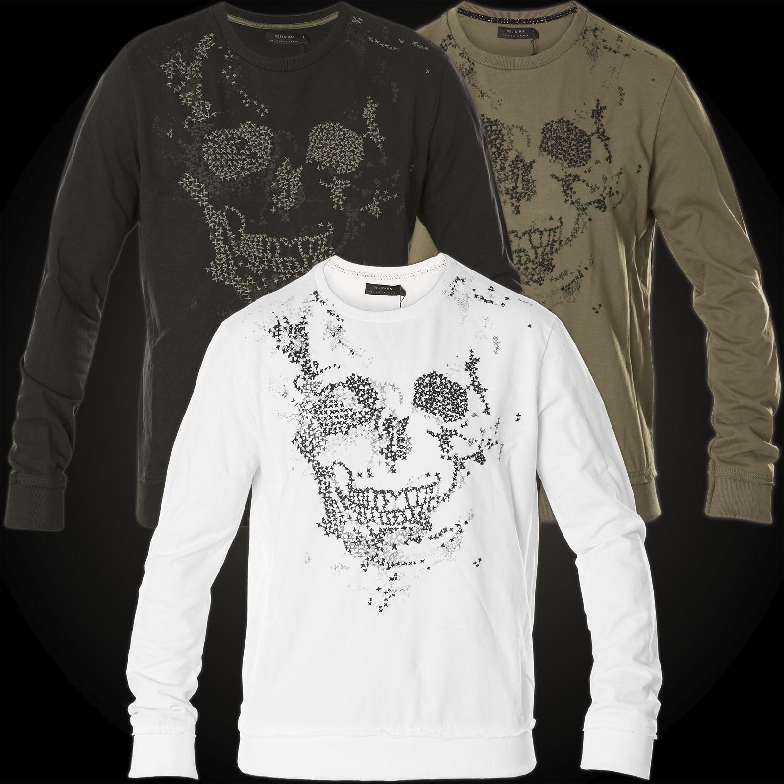 9e1fdfa7af4342 Religion Pullover Skull Stitch MBSSW24 mit Totenkopf Stickerei
