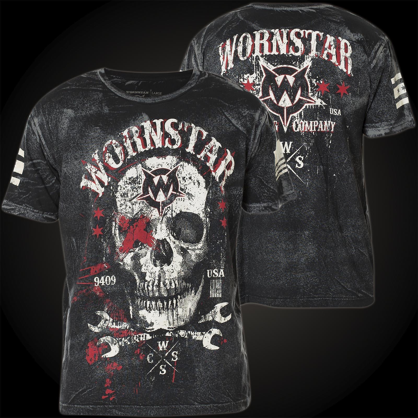 wornstar t shirt death mechanic in schwarz mit auff lliger. Black Bedroom Furniture Sets. Home Design Ideas
