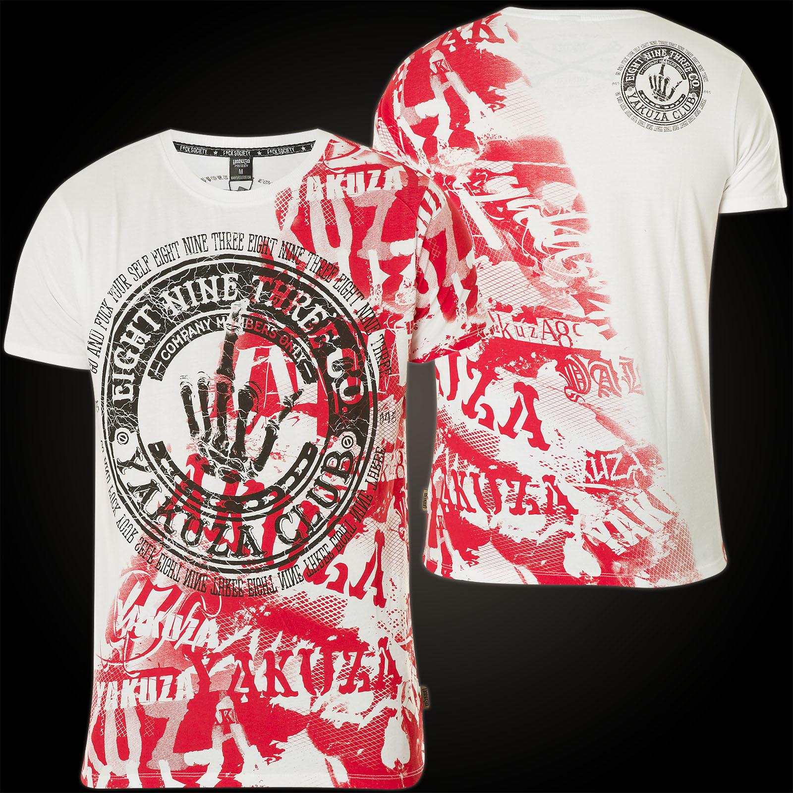 YAKUZA Club T-Shirt TSB-9021 Black Schwarz T-Shirts