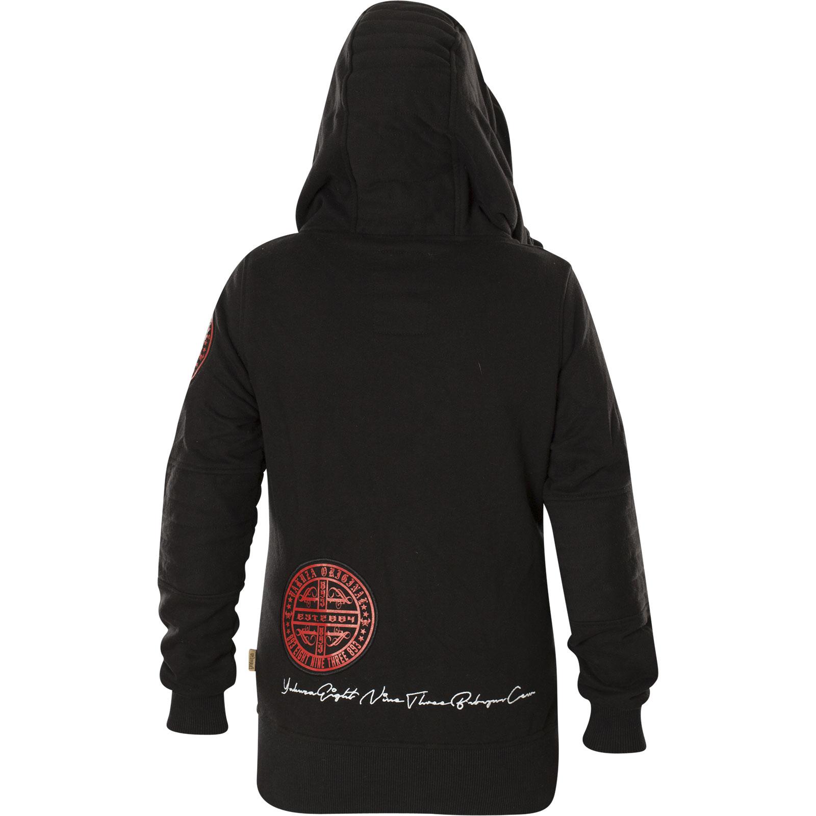 Yakuza Damen Daily Skull High Neck Zip Hoodie GHZB 11109 Black Schwarz