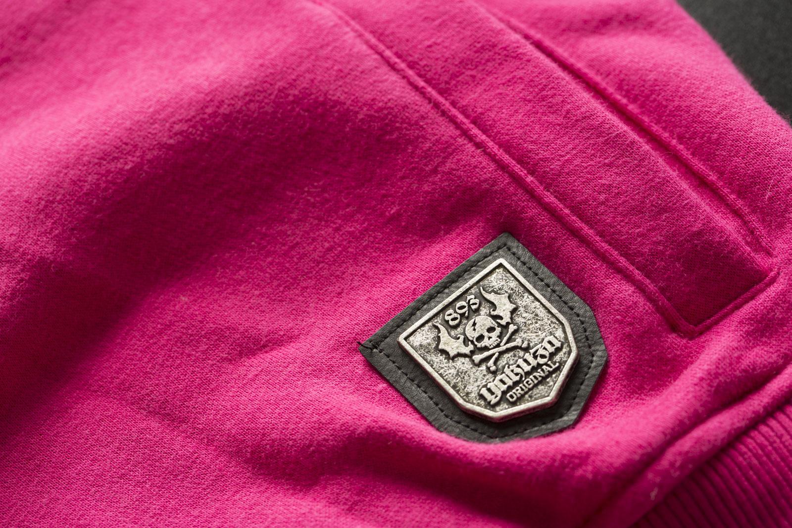YAKUZA Damen Daily Use Mesh Hoodie GHOB-11103 Fuchsia Rose Pink Hoodies