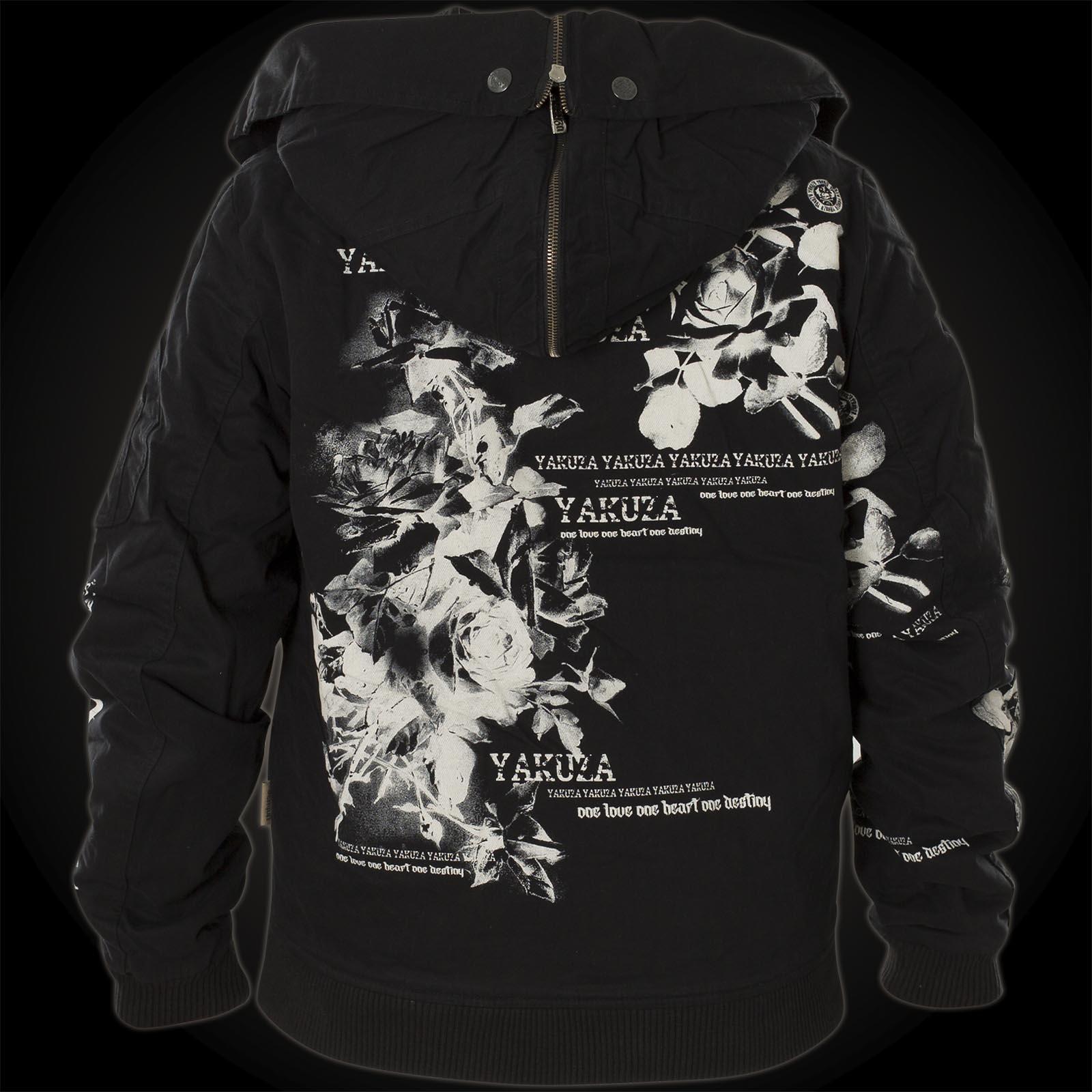 Yakuza Flower Heavy Jacket Bomber GJB 10133 mit Blumenprint