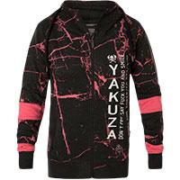 YAKUZA Damen Jacke Gradient Baseballjacke GJB-13120 Black Schwarz//Weiß