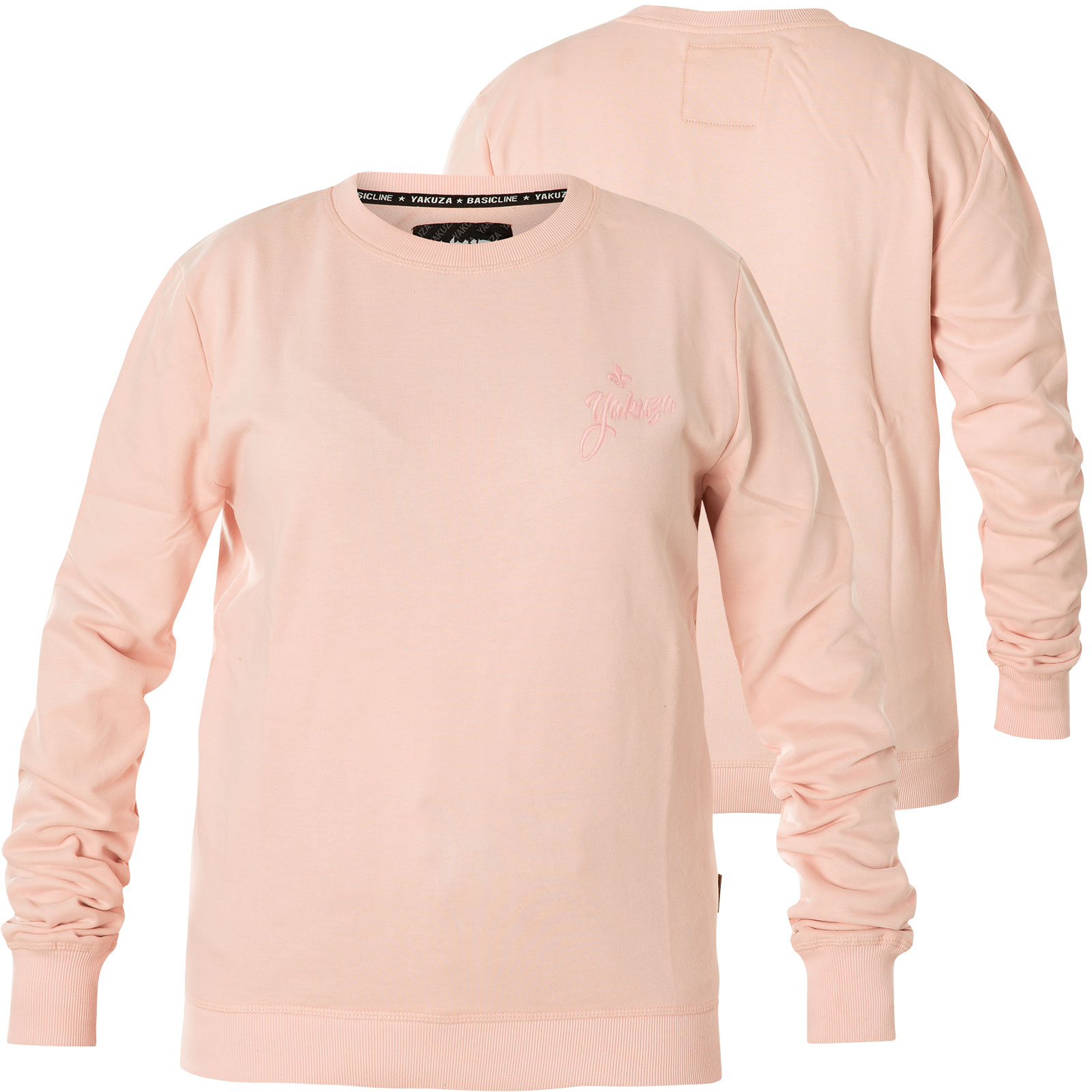 timeless design b2282 9b262 Yakuza Damen Pullover Basic Line Script Sweatshirt GPB-14140 Chrystal Pink  Rosa