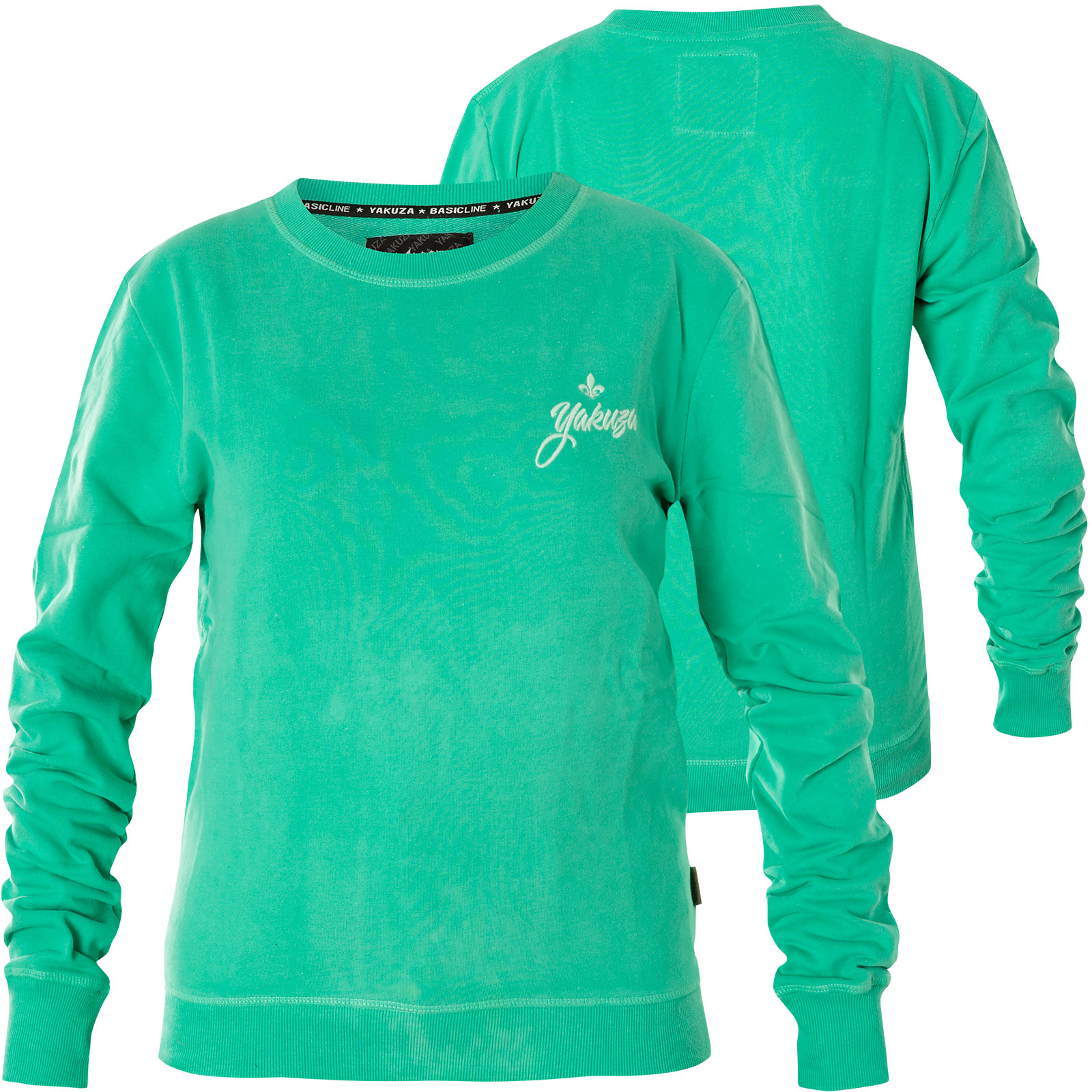 official photos 160f3 72f1c Yakuza Damen Pullover Basic Line Script Sweatshirt GPB-14140 Spearmint  Türkis