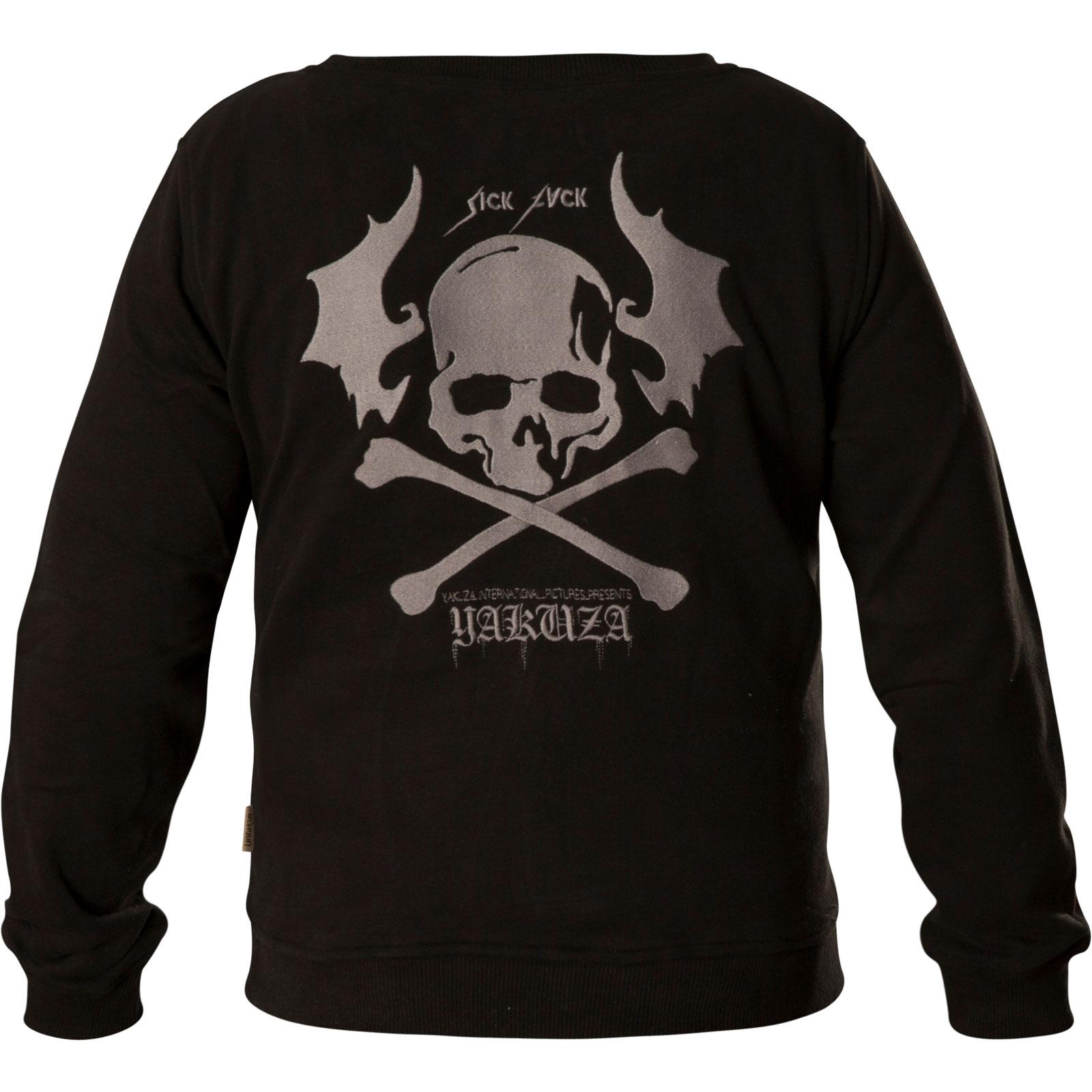 ed8e68fb1d69b5 ... Yakuza Damen Pullover Flying Skull Cropped Sweater GPB-13109 Black  Schwarz ...
