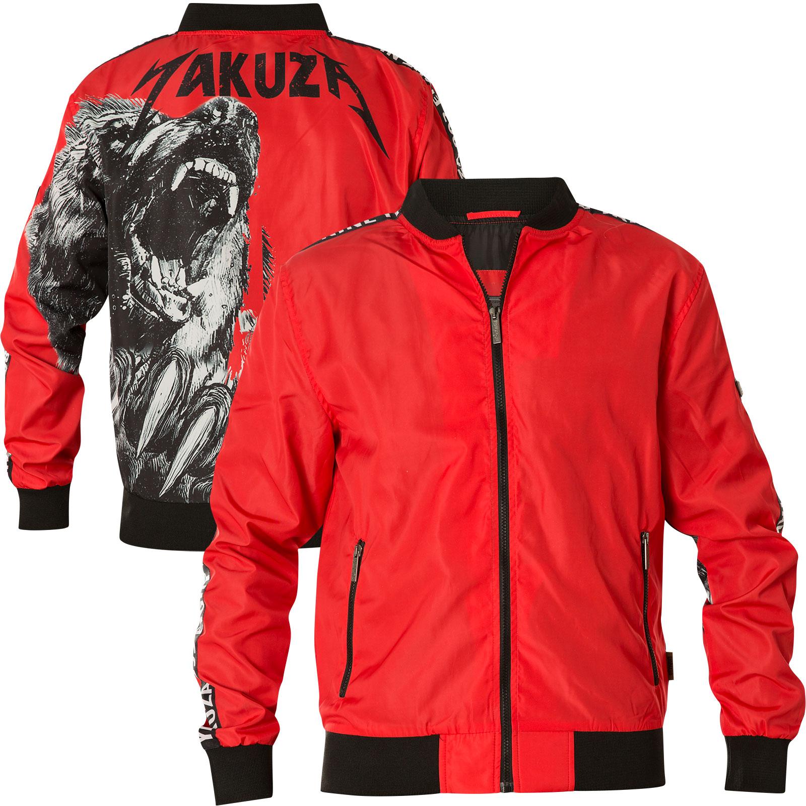 YAKUZA Jacke Skull V02 Track Top ZB-12041 Ribbon Red Rot Jacken
