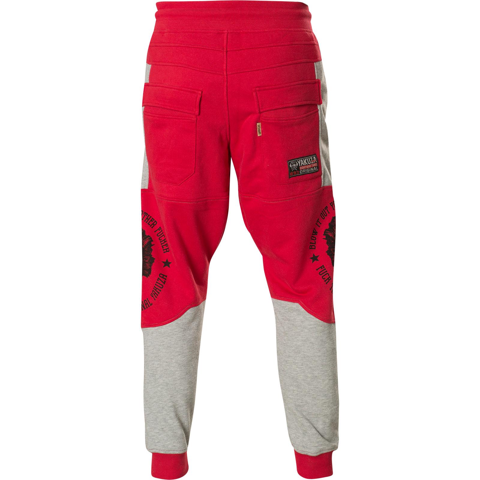 219d68a0ad9605 ... Yakuza Jogginghose Punx Two Face Anti Fit Jogger JOB-11030 Ribbon Red  Rot ...