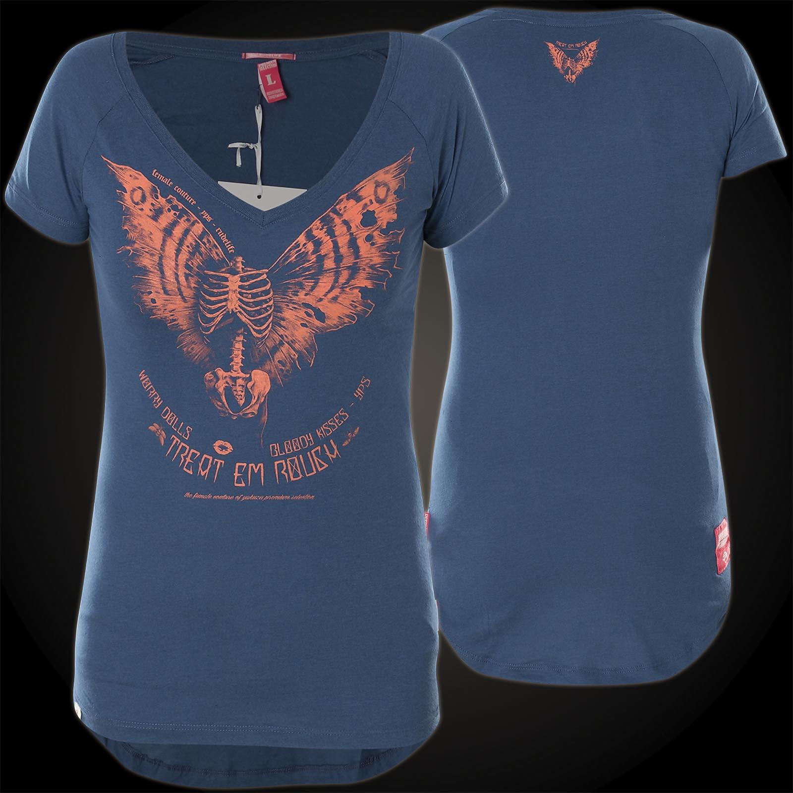b75539ed2ab3 Yakuza Premium T-Shirt GS-2336 in blau mit großem Printdesign