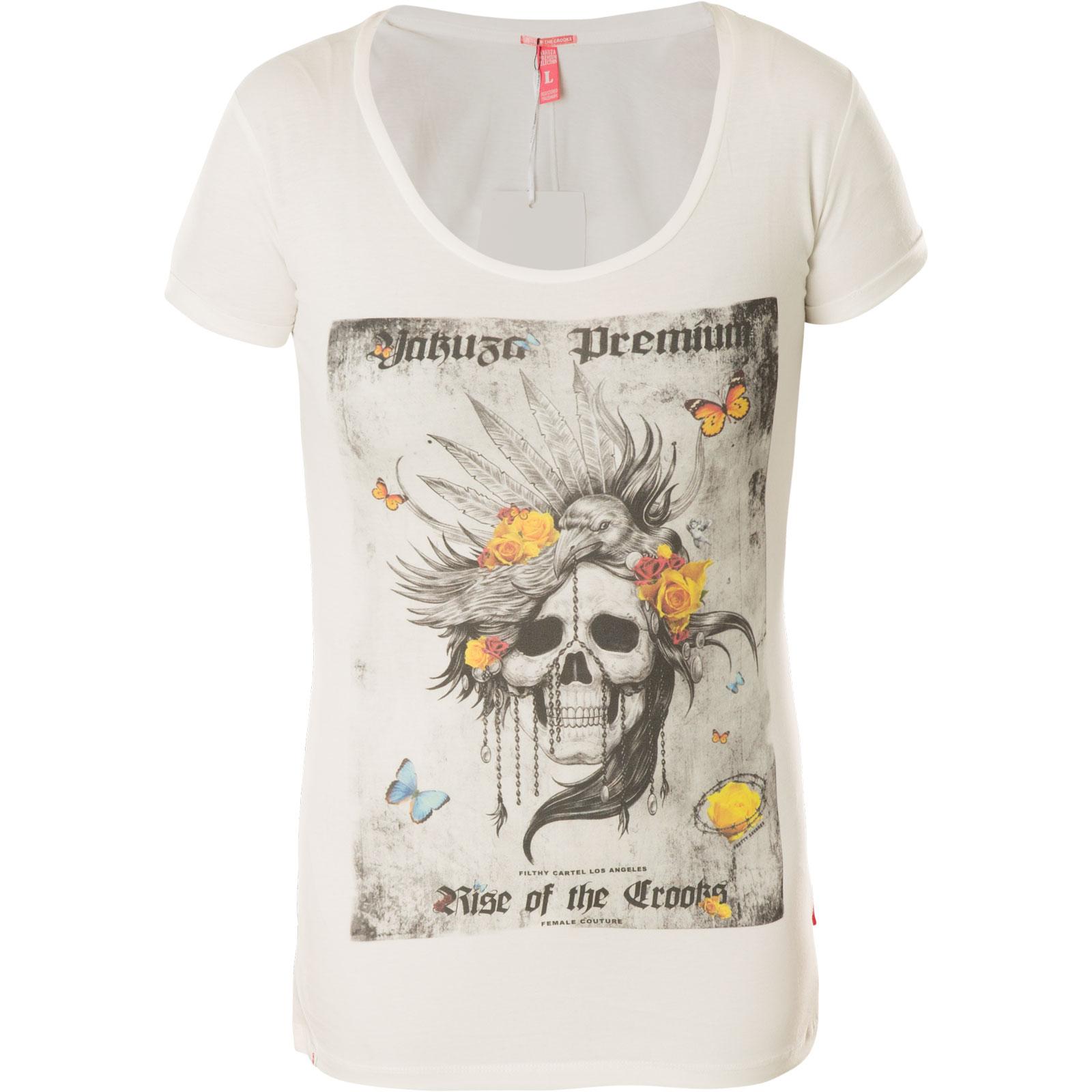 Yakuza Premium Damen T-Shirt 2534 natur Top in Größe XS bis XL