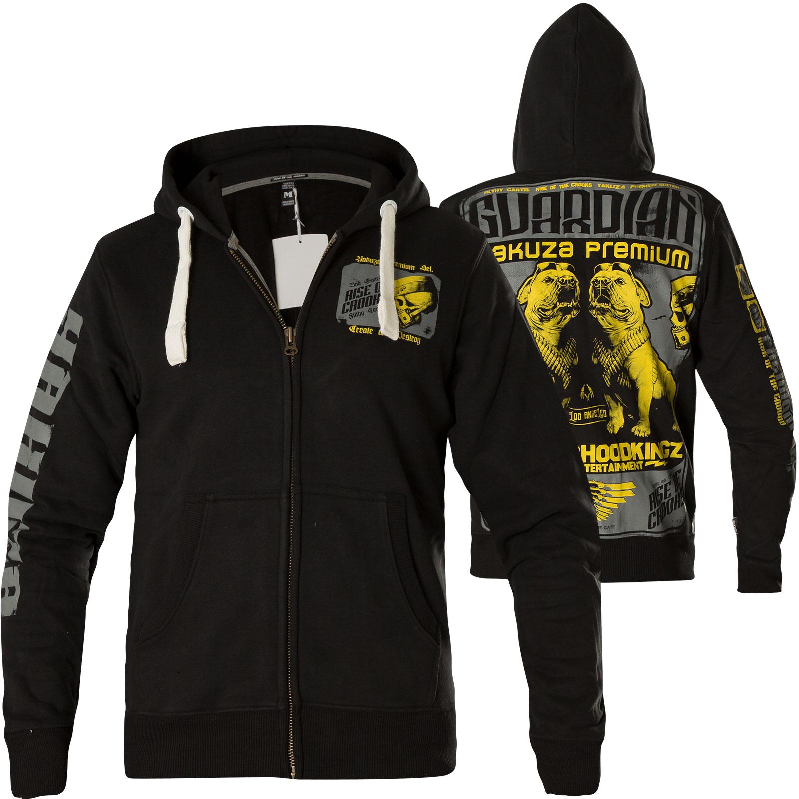 yakuza premium yphz 2526c hoodie mit totenkopf und bulldoggen. Black Bedroom Furniture Sets. Home Design Ideas