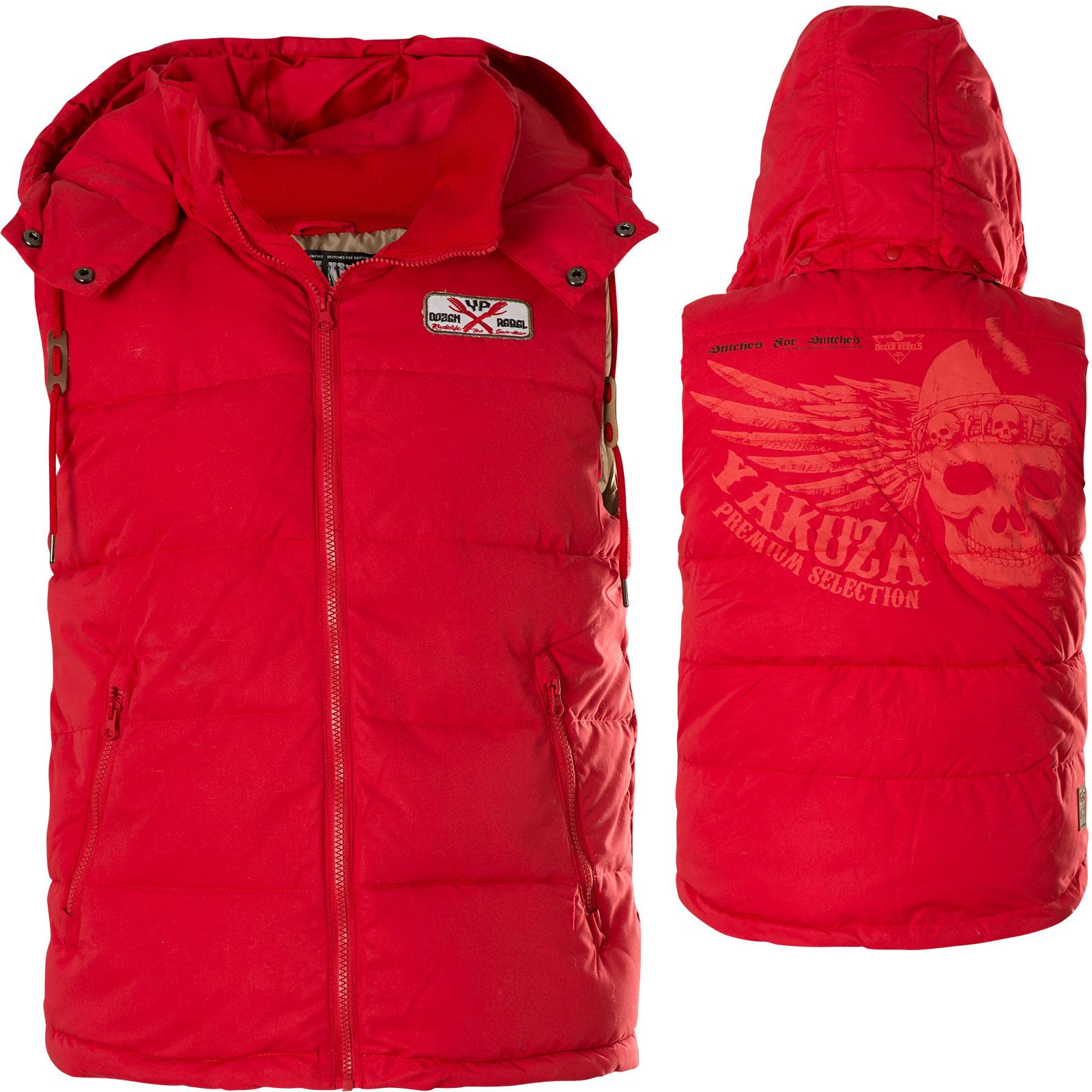 attraktiv und langlebig moderner Stil noch eine Chance Yakuza Premium Weste YPV-2573 Rot
