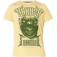 """YAKUZA gelb Herren T-Shirt TSB 12011 /""""World Peace/"""" pale banana"""