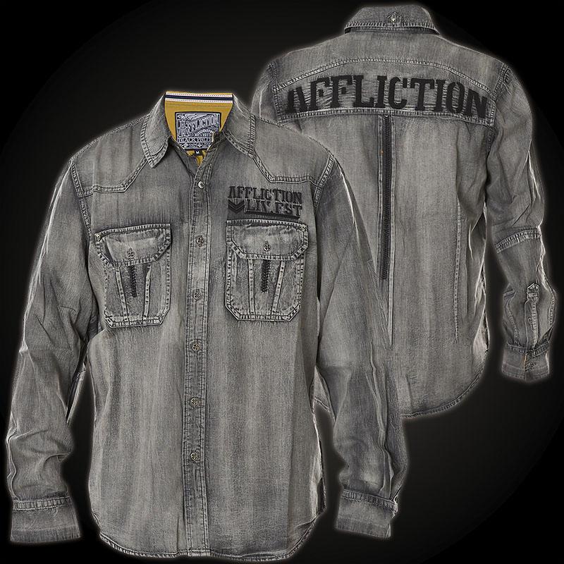 affliction hemd city invader hemd mit affliction logo. Black Bedroom Furniture Sets. Home Design Ideas