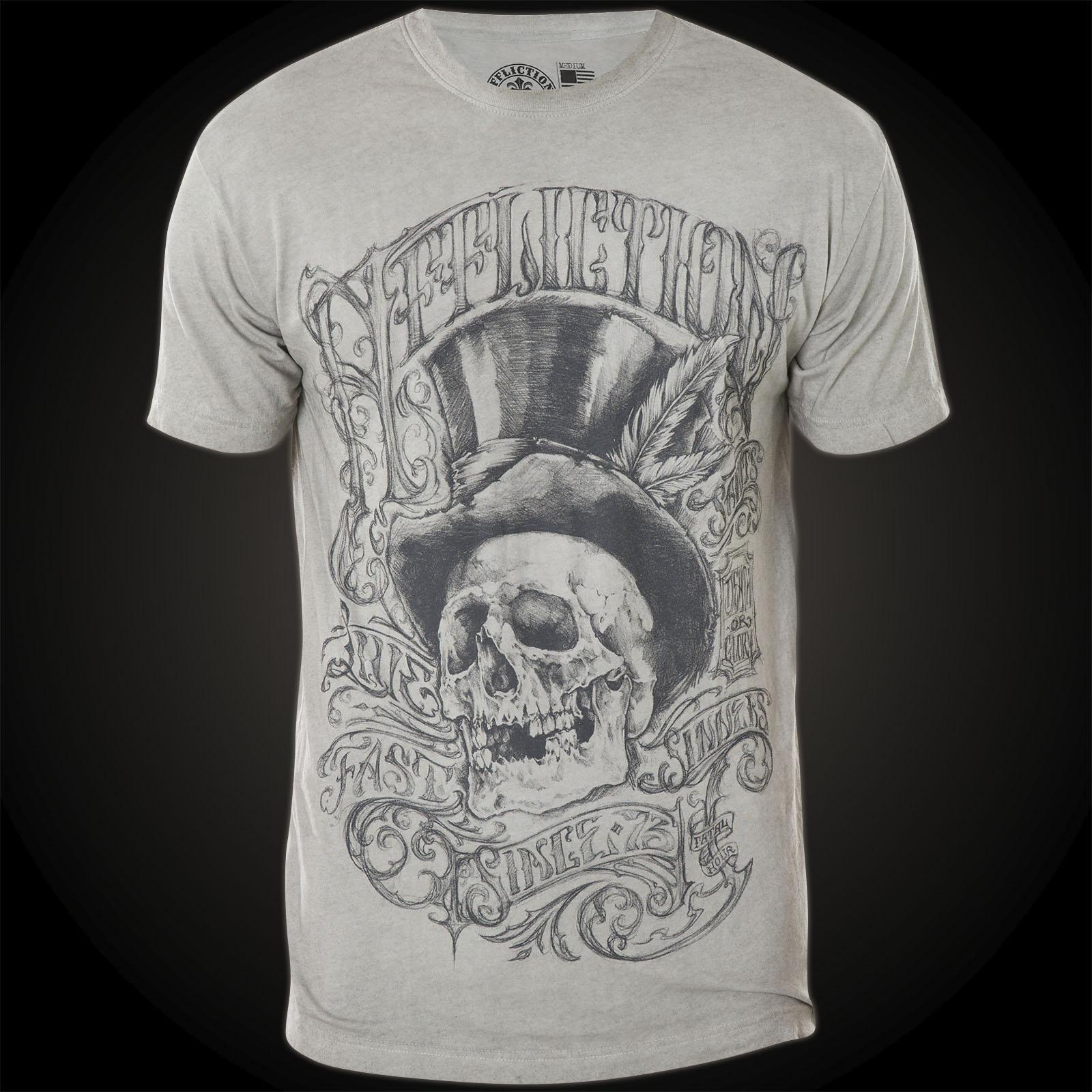 Affliction T-Shirt Parlor Grau Affliction T-Shirt Parlor Grau ...