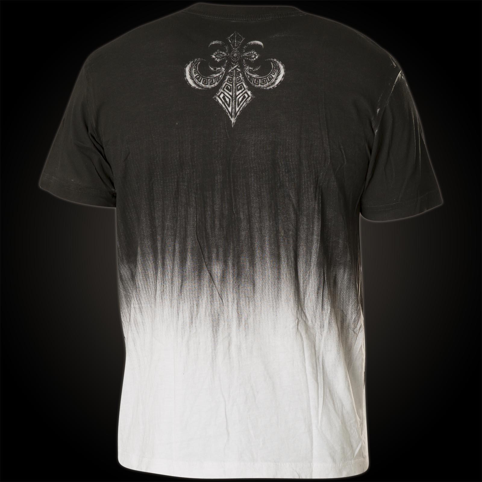 ... Affliction T-Shirt Tarnished Warrior Schwarz/Weiß