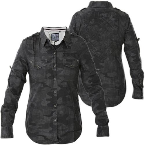 affliction freedom schwarzes hemd mit camo print. Black Bedroom Furniture Sets. Home Design Ideas