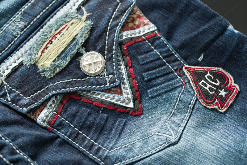 affliction jeans jade drifter rome jeans mit stickereien. Black Bedroom Furniture Sets. Home Design Ideas
