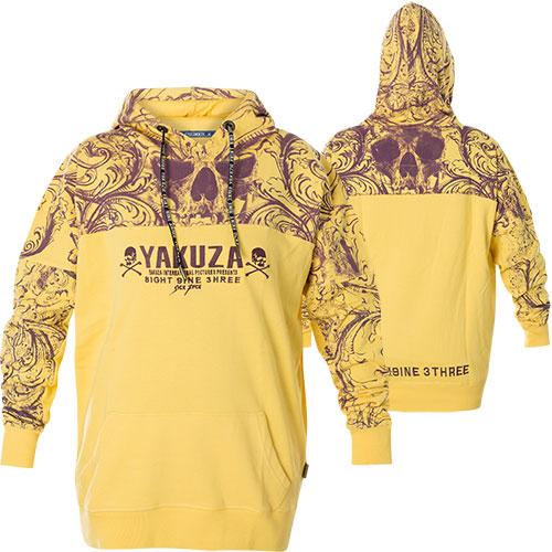 Yakuza Ornamental Skull Boyfriend Hoodie GLHOB 14106 mit All